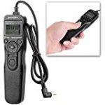 MC-60E3 Shutter Release LCD Wired Timer Remote Control for Canon T5i T4i T2i T1i XT XTi XS XSi 60D G16 G15 G12 G11 G10 G1X 70D 60Da 60D T6s T6i T3i T5 T3 760D 100D 550D 1100D DSLR Cameras
