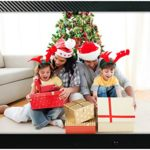 15 inch HD Digital Picture Frame Carbon Fiber – 1080p High Definition Electronic Photo & Video With 16GB Memory, Motion Sensor, Built-In Speakers & Remote Control – (Black)