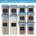 Shazo Food Storage Containers (10 Container Set – 20 PC) – Airtight Dry Food Container w/Innovative Dual Utility Interchangeable Lid, FREE Chalkboard Labels One Lid Fits All -Freezer Safe, Space Saver