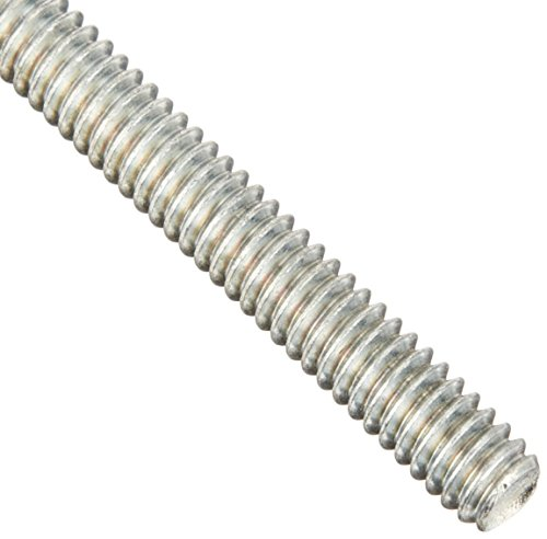 Steel Fully Threaded Rod, Zinc Plated, 3/8