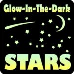 Glow-in-the-Dark 150 Stars Vinyl Wall Decals Set by Glow-in-the-Dark