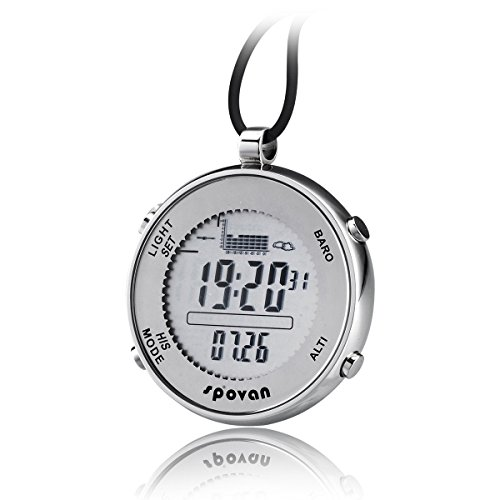 JUSHENG Spovan SPV600 Outdoor Waterproof Digital Fishing Barometer Unisex Pocket Watch Suitable for Climbing Running Fishing competition and other sports