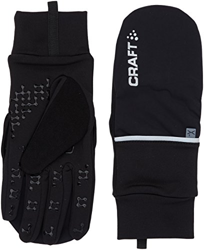 Craft Hybrid Weather Gloves, Black, Medium