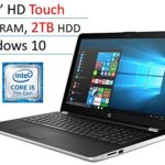 2018 HP 15.6″ Touchscreen Laptop PC, Intel Core i5-7200U, 8GB DDR4, 2TB HDD, Intel HD Graphics 620, 802.11ac, Bluetooth, DVD RW, USB 3.1, HDMI, Webcam, Windows 10 Home, Silver