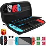 Nintendo Switch Case, kungfuren [UPGRADED 2018]Switch Case with 29 Game Cartridges, Premium Protective Hard Shell Travel Carrying Case Pouch for Nintendo Switch Console & Accessories BLACK