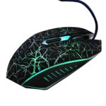 Cuitan 2400 DPI USB Wired Optical Gaming Mouse for Computer Desktop Laptop Notebook PC, 6 Buttons, 800/1200/1600/2400 DPI Adjustable, Mouse with Colorful Breathing Light for Gaming Enthusiasts – Black