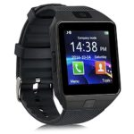 Qiufeng Dz09 Bluetooth Smart Watch SmartWatch with Camera for Iphone and Android Smartphones(Black)