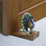 Decorative Small Wooden Door Stopper Doorstop Holder Hand Carved in a Peacock Shape Floor Blocker Closers Jammer Home Furniture Decor…