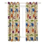 BGment Animal Zoo Kids Curtains Room Darkening,Grommets,2Panels(42″Wx63″L,Zoo)