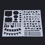ShungHO Bullet Journaling Stencils Plates 12Pcs Bullet Journal Stencil Plastic Planner Set Drawing Templates Ruler Set To Decorate Journal Calendar Planner Diary Scrapbook