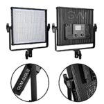 GVM LED Video Light 520 CRI97 Plus and TLCI 97 Plus 18500 lux @ Bi-color 3200-5600K for Photography Video Lighting Studio Interview Portrait