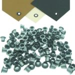 Mil-Spec Kydex Eyelets GS 8-8, Brass Black Oxide 1/4″ DIY Gun Holster Knife Sheath Grommets (200)