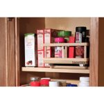 UpperSlide Cabinet Caddies Small Spices Etc Rack Caddy (US 303S) Upper Cabinet Storage fitting most 12 inch cabinets