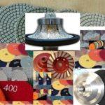1/2″ Radius / Roundover Bullnose Diamond Router Bit Profiler Granite 16 Pieces Polishing Pad 4 Inch Grinding Cup Wheel aluminum backer Concrete Marble Travertine Quartz Countertops edge fabricate