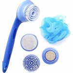 Yartar Spa Brush 5 in 1 Face and Body Cleansing Brush Set Electric and Waterproof Essential Skin Care Exfoliator System
