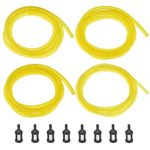 Shappy 20 Feet Fuel Line Hose (4 Sizes) with 8 Pieces Fuel Filters, Replacement Set for Chainsaw String Trimmer