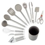 NEXGADGET Kitchen Utensils – 12 Piece Cooking Utensils – Nonstick Utensil Set – Silicone and Stainless Steel Kit