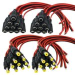 Igreeman 20 Pair DC Power Pigtail Male & Female Cable (Upgrated 18AWG) with 2.1mm x 5.5mm Connectors for Home Security Surveillance Camera Power Adapter and Party lighting Power Connection