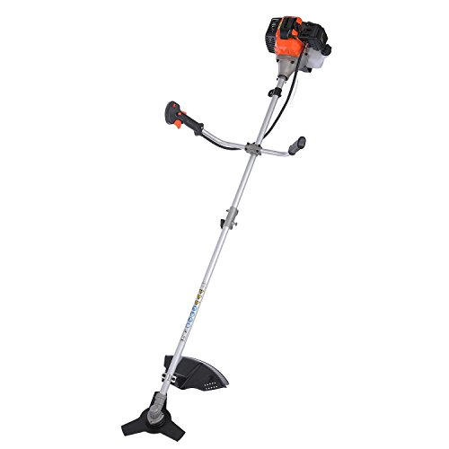 Utheing Straight Shaft String Trimmer 43cc 2-cycle Gas Powered Combo for Lawn Garden