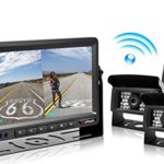 "2018 Update Digital Wireless Backup Camera and 7"" Monitor Kit Reverse Rear view Camera Kit For Truck/Trailer/Bus/RV/Pickups/Trailer/Camper/Van When Reversing Parking to Avoid Blind Area eRapta E2"