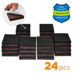 "NON SLIP FURNITURE PADS X-PROTECTOR – PREMIUM 24 pcs 1 1/2"" Furniture Pad! Best Furniture Grippers – Rubber Feet – Furniture Floor Protectors for Keep in Place Furniture & Furniture Stoppers"