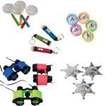 Junior Detective Toy Party Favor Supplies Set for 12 Bundle 84 Pieces Magnify Glass Compass