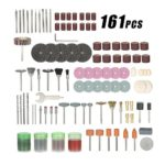 KKmoon 161pcs 1/8″ Shank Rotary Tool Accessories Set Sanding Grinding Brushing Polishing Bits Accessory Kit with Storage Box for Dremel Grinder