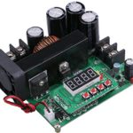 Yeeco Numerical Control Voltage Regulator DC Boost Converter Constant Voltage Current Step Up Module Adjustable 8-60V to 10-120V 15A Output 48V 24V 12V Power Supply with LED Display & Heatsink Fan