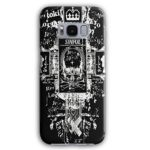 Queen King Skull Vintage Post Card 3D Samsung Galaxy S8 Case | Wellcoda