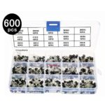 Ltvystore 15Values 600PCS NPN PNP Power Transistor Assortment Assorted Kit 2N2222-S9018 with Clear Plastic Box