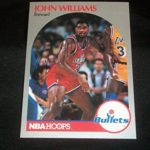 Washington Bullets John Hot Plate Williams Signed Auto 1990/91 Hoops #304 A17