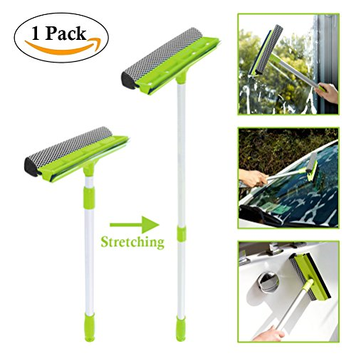 Window Squeegee Cleaning, Sportsvoutdoors Extendable Handle Extension Pole Cleaning Tools,Detachable Sponge Squeegee Rubber Cleaning,for Car Windshield Window Cleaning