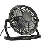 USB to USB Table Fan Personal Mini Desk Cooling (Quiet Operation System, 4-Inch Blade)