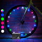 Super Cool LED Bicycle Wheel Lights (1 Tire, Multicolor) Best Xmas Gifts for Kids – Top Cheap Secret Santa X-mas Presents of 2017 Popular Children Bike Toys – Hot Child Bday Party Outdoor Family Fun