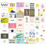 48 Pack Assorted All Occasion Greeting Cards – Includes Happy Birthday, Congratulations, Thank You Note Cards Assortment Designs – Bulk Box Set Variety Pack with Envelopes Included – 4 x 6 Inches