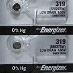 Energizer Batteries 319 (SR527SW) Silver Oxide Watch Battery. On Tear Strip (Pack of 5)