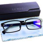 Blue Light Blocking Glasses by Bukos — Unisex – FDA Approved – Sleep Better – Reduce eyestrain – LED Grow Light protection – Computer Glasses – Gaming – Melatonin