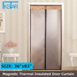 Magnetic Thermal Insulated Door Curtain Enjoy Your Cool Summer And Warm Winter With Saving You Money Door Curtain Auto Closer Fits Doors Up To 34″ x 82″ MAX