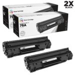 LD Compatible Replacement Laser Toner Cartridges for Hewlett Packard CE278A (HP 78A) Black (2 Pack) for use in HP Laserjet P1566, Pro M1536dnf, and P1606dn Printers