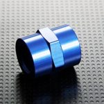 Autobahn88 Aluminum Water or Oil Fitting – Straight Female Pipe Coupling, 1/8 to 1/8 NPT, Blue