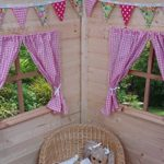 PLAYHOUSE CURTAINS ~ TRADITIONAL PINK GINGHAM ~ WITH TIE-BACKS & FITTINGS ~ WENDY HOUSE DECORATION by GOOSEBOOSE