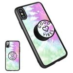 iPhone X Customizable Good Vibes Case,iPhone 10 Case Soft TPU Cover with Expanding Grip&Stand, New Fashion Personalized Ultralight Slim Protect Case for Apple iPhone X(5.8 Inch)(good vibes13)