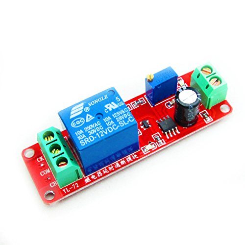 HiLetgo NE555 DC 12V Delay Timer Switch Adjustable Module 0 to 10 Second