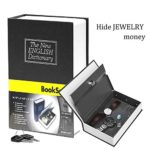 Book safe with Metal Lock box – HENGSHENG New English dictionary fit Hidden Home Diversion Secret Book Safe Portable Travel Box With Key Lock box Safe – Small black