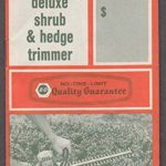 Black & Decker Deluxe Shrub & Hedge Trimmer Model U-272 instructions 1960s