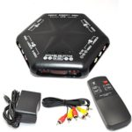 iKKEGOL 5 Ways 4 Port IN 1 Out Video Audio S-Video Game AV Switch Box Selector with Remote Control Av-666d Black