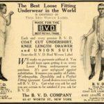 1910 Ad B.V.D. Loose Fitting Men's Underwear Garments – Original Print Ad