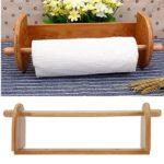Kitchen Bamboo Towel Tissue Paper Roll Holder Dispenser Rack Stand Home Room Sundries Organizer Shelf Storage Tools Accessories