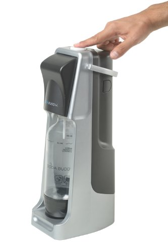 Soda Buddy Home Soda Maker Starter Kit, Black and Silver