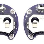 2X LilyPad Coin Cell Battery Holder for CR2032 – With Switch (2 Pcs)